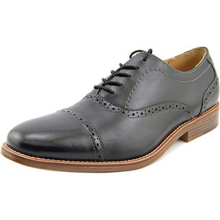GH Bass & Co Carnell Men  Cap Toe Leather Black Oxford