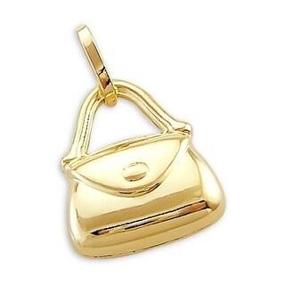 MCS JEWELRY INC 14 KARAT YELLOW GOLD ELEGANT PURSE PENDANT CHARM