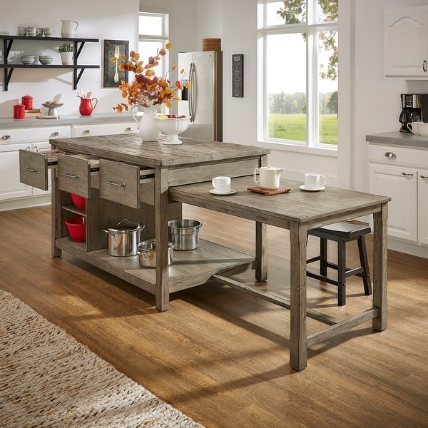 Tali Reclaimed Wood Extendable Kitchen Island By Inspire Q Classic On Sale Overstock 25576038