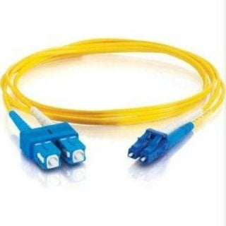 C2g/Cables To Go 11189 Lc-Sc 9/125 Os1 Duplex Single-Mode Fiber Optic Cable, Yellow (3 Meter)