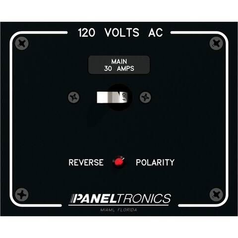 Paneltronics Standard Panel AC Main Double Pole w/30Amp CB & Reverse Polarity Indicator