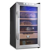 Schmécké 400 Cigar Thermoelectric Cigar Cooler Humidor with Stainless Steel Trim Finish