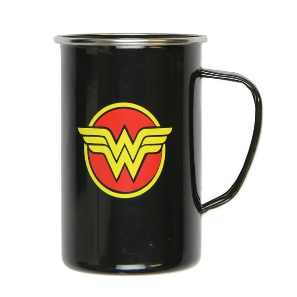 DC Comics Wonder Woman Logo 20oz Enamelware Mug - Multi