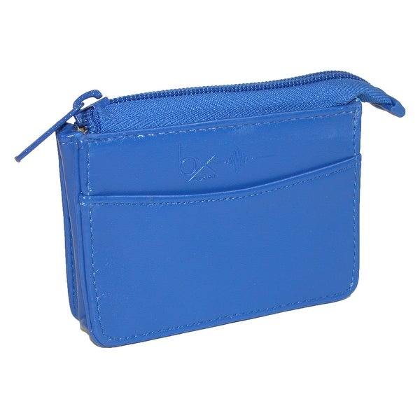 Buxton Women's RFID Pull-Up Card Case Coin Wallet