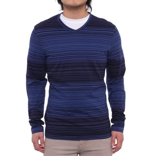 Perry Ellis Long Sleeve V-Neck Sweater Men Regular Sweater Top