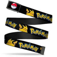 Poke Ball Fcg  Chrome Flying Pikachu W Pokemon Webbing Web Belt