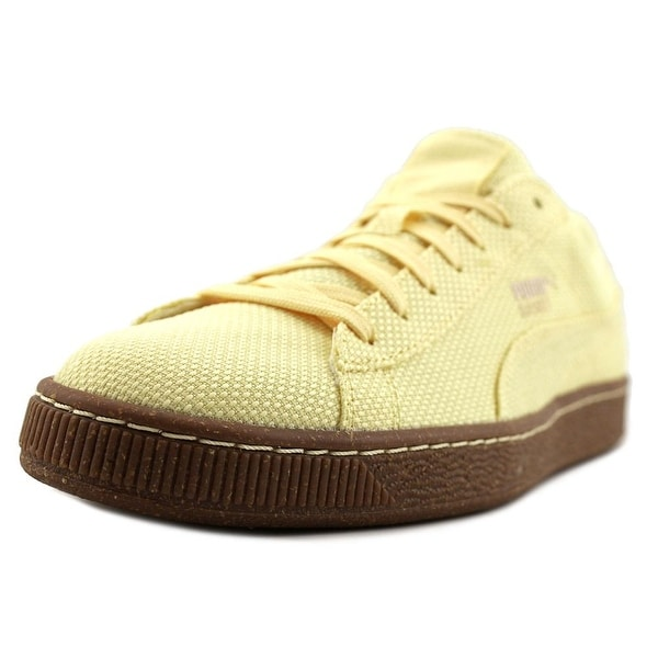 Puma Basket Ripstop IC Men Mellow Yellow-White Swan Sneakers Shoes