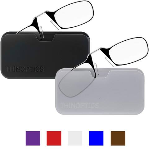 ThinOptics Secure Fit Armless Ultralight Reading Glasses with Universal Pod Case