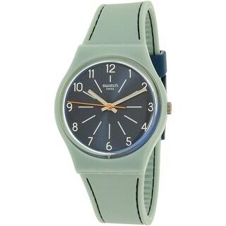 Swatch Women's Gent GM184 Blue Silicone Swiss Quartz Fashion Watch