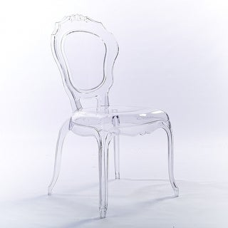 clear plastic furniture. 2xhome Clear Transparent Crystal Design Plastic Chairs Side Dining Chair Modern Desk Accent Bedroom - Furniture E