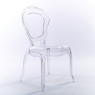 2xhome Clear Transparent Crystal Design Plastic Chairs Side Chairs Dining Chair  Modern Desk Accent Bedroom