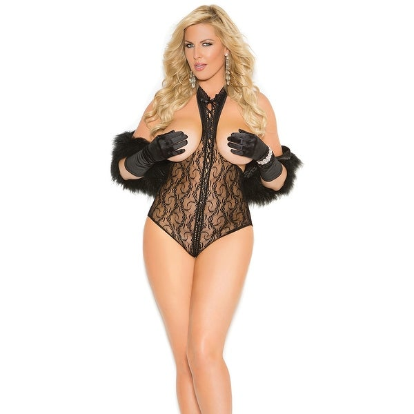 995f0b54c36 Shop Plus Size Cupless Teddy With Open Back