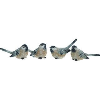 """Link to Set of 4 Black and White Contemporary Christmas Long Tail Bird Figurines 5"""" Similar Items in Decorative Accessories"""