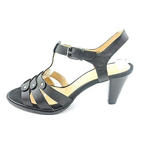 Easy Spirit Women's Fostina Open-Toe Leather Heels - 9.5