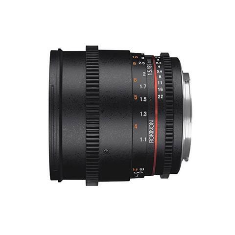 Rokinon 85mm T1.5 Full Frame Cine DS Lens for M4/3 Cameras - Black