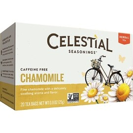 Celestial Seasonings Caffeine Free Chamomile Natural Herbal Tea 20 ea