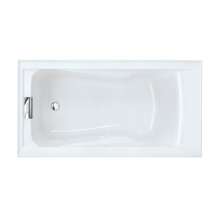 "American Standard 2425V-LHO.002 Evolution 60"" Acrylic Soaking Bathtub with Left Hand Drain - Lifetime Warranty"