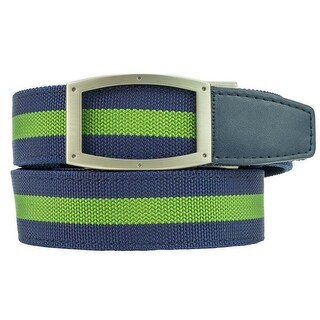 Nexbelt Newport Ivy Green/Blue Nylon Ratchet Golf Belt