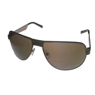 Umbro Sunglass Mens Black, Solid Smoke Lens Metal Sport Aviator US23 Black - Medium