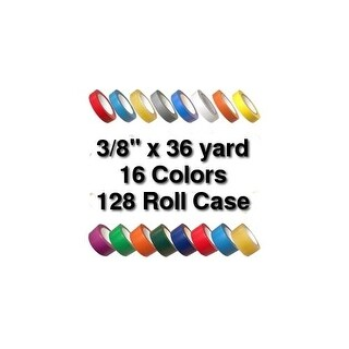 Vinyl Marking Tape 3/8 inch x 36 yard (128 Roll Case) (More options available)