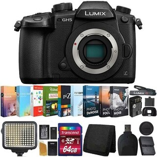 Panasonic Lumix DC-GH5 Mirrorless Micro Four Thirds Digital Camera (Body Only) (Camera Body Bundle)