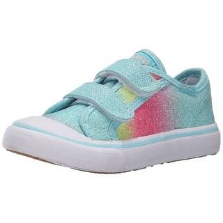 Keds Glittery Hook & Loop Sneakers Shoes - 8 m us toddler