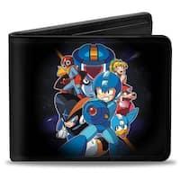 Megaman Group + Logo Black Bi Fold Wallet - One Size Fits most