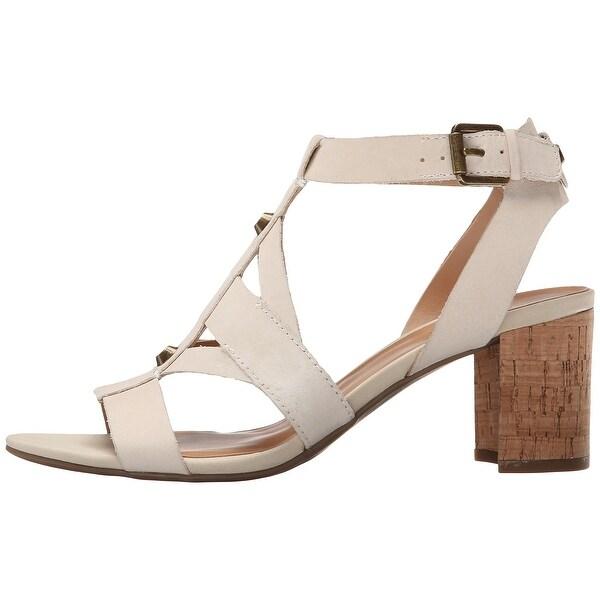 Franco Sarto Womens PALOMA Leather Open Toe Casual T-Strap Sandals