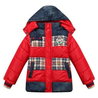 Richie House Boys' Padding Jacket with Detachable Hood