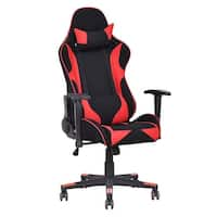 Costway High Back Executive Racing Style Recliner Mesh Gaming Chair - Red