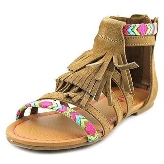 Mia Kids Skylar Open Toe Canvas Sandals