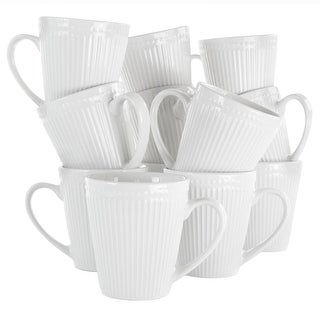 Link to Elama Madeline 12 Piece Porcelain Mug Set in White Similar Items in Dinnerware
