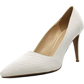 Bar III Joella Women Pointed Toe Synthetic White Heels