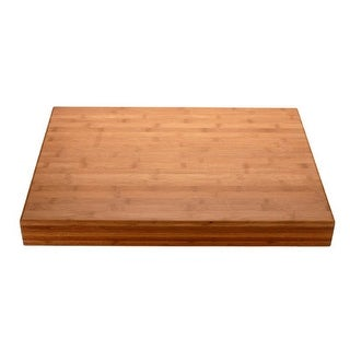 MIU France 90031 Flat Grain Bamboo Cutting Board: 18 Inch x 24 Inch X 2.5 Inch