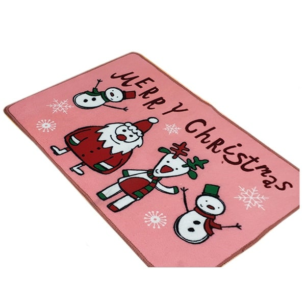 Christmas Series Ground Floor Foot Door Mat Carpet - Pink