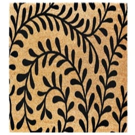 "J & M Home Fashions 4292 Coir Floor Mat, 18"" X 30"""