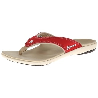 Spenco Womens Yumi Faux Leather Total Support Flip-Flops - 10 medium (b,m)