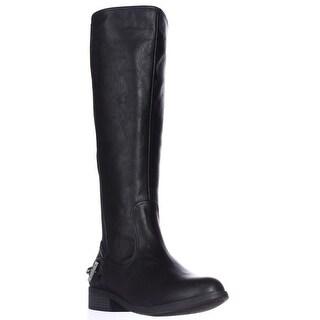 Nautica Ridgeland Flat Riding Boots, Black