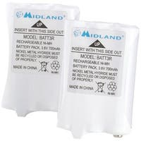 MIDLAND AVP14 2-Way Radio Rechargeable Battery Pack, 2 pk