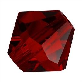 Preciosa Czech Crystal 4mm Bicone Beads Siam Red (50)