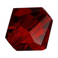 Preciosa Czech Crystal Beads 8mm Bicone Siam Red (8)