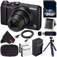 Nikon COOLPIX A900 Digital Camera (Black) 26501 International Model + EN-EL12 Replacement Battery + 64GB SDXC Card Bundle