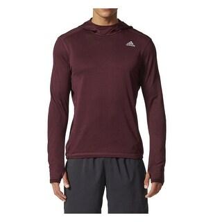 Adidas NEW Deep Purple Mens Size Large L Lightweigh Athletic Hoodie