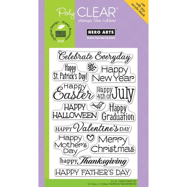 """Hero Arts Clear Stamps 4""""X6""""-Celebrate Everyday"""