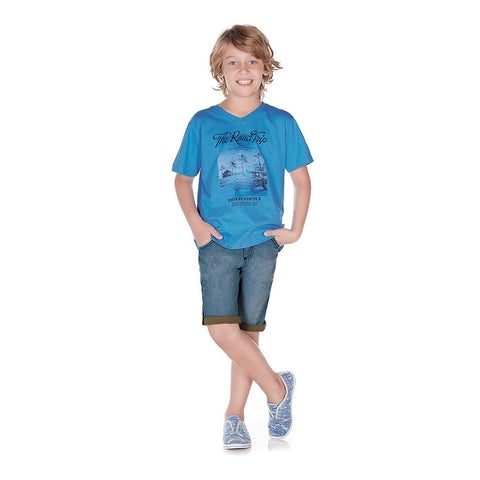 Pulla Bulla Little Boy Graphic Tee Short Sleeve Shirt