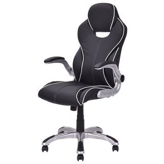 Costway High Back Executive Racing Style Office Chair Gaming Chair Adjustable Armrest