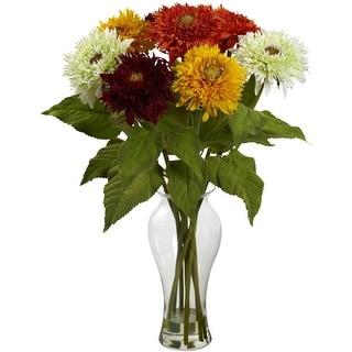 Nearly Natural Sunflower Arrangement with Vase Arrangement