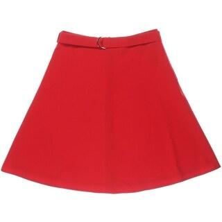 Nine West Womens Film Noir Woven Wide Band A-Line Skirt