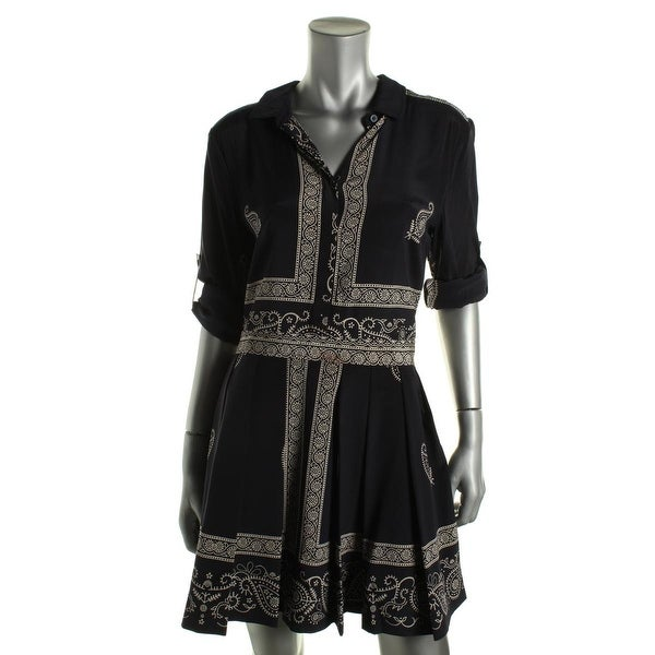 DKNY Womens Casual Dress Silk Printed