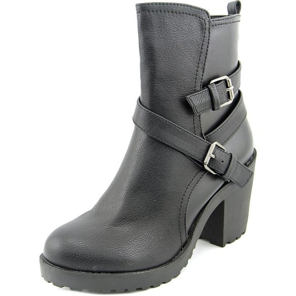 Famous Name Brand Blast Round Toe Synthetic Ankle Boot